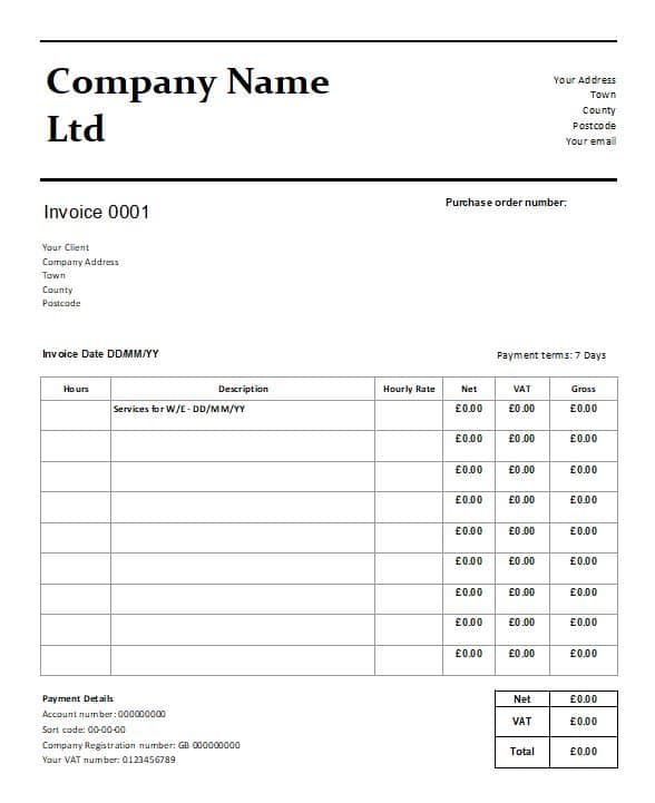 Free Able Invoice Template For